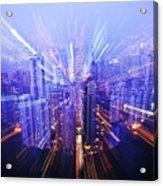 Hong Kong Lights Acrylic Print by Ray Laskowitz - Printscapes