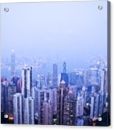 Hong Kong Skyline Acrylic Print by Ray Laskowitz - Printscapes