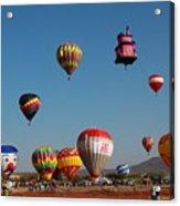 Hot Balloon Festival, Leon, Mexico Acrylic Print