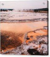 Hot Springs In Yellowstone. Acrylic Print