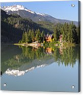 House On Green Lake Whistler B.c Canada Acrylic Print