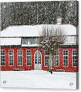 Hovdala Castle Orangery In Winter Acrylic Print