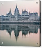 Hungarian Parliament In The Morning Acrylic Print
