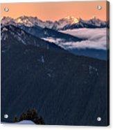 Hurricane Ridge At Sunrise In Olympic National Park Washington Acrylic Print