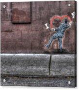 I Heart Ny Street Art 4 Acrylic Print