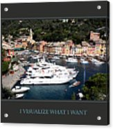 I Visualize What I Want Acrylic Print