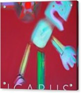 Icarus Falling Acrylic Print