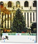 Ice Skating During The Holiday Season Acrylic Print