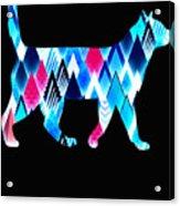 Ice Triangles Cats Acrylic Print