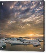 Icebergs On The Jokulsarlon Glacial Acrylic Print