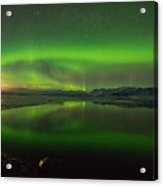 Iceland Aurora Reflection Acrylic Print
