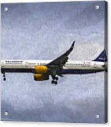 Icelandair Boeing 757 Art Acrylic Print