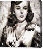 Ida Lupino, Vintage Actress Acrylic Print
