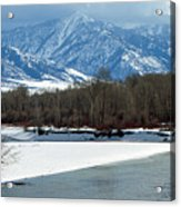 Idaho Winter River Acrylic Print