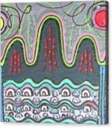 Ilwolobongdo Abstract Landscape Painting Acrylic Print