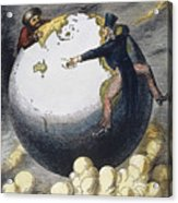 Imperialism Cartoon, 1876 Acrylic Print by Granger