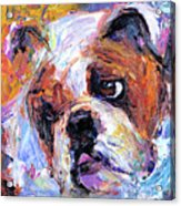 Impressionistic Bulldog Painting  Acrylic Print