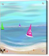 In The Pink - Sailing In Tropical Waters Acrylic Print