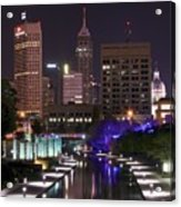 Indianapolis Canal View Acrylic Print