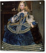 Infanta Margarita Teresa In A Blue Dress Acrylic Print