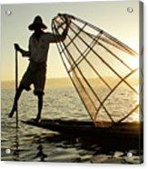 Inle Lake Fisherman Acrylic Print