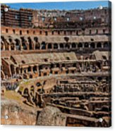 Interior Of The Coliseum, Rome, Italy Acrylic Print
