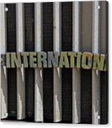 International Semi Truck Emblem Acrylic Print