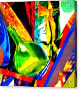 Intersections Abstract Collage Acrylic Print