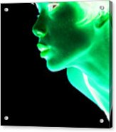 Inverted Realities - Green  Acrylic Print