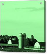Iowa Farm Panorama Acrylic Print