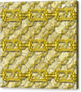 Iron Chains With Money Seamless Texture Acrylic Print