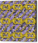 Iron Chains With Mosaic Seamless Texture Acrylic Print