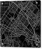 Irvine California Usa Dark Map Acrylic Print