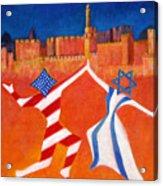 Israel And Usa Dancing Acrylic Print by Jane  Simonson