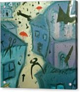 It Is Raining In My Little Village Acrylic Print