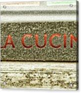 Italian Cooking Acrylic Print