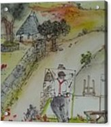 Italian  Landscape Scroll Acrylic Print