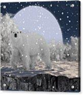 It's Snowing Acrylic Print