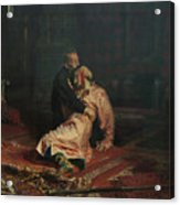 Ivan The Terrible And His Son Ivan On November 16, 1581 Acrylic Print