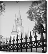 Jackson Square Fence With St. Louis Cathedral In Background Acrylic Print