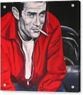 James Dean Put His Picture In A Picture Show Acrylic Print by Eric Dee