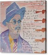 James Joyce Acrylic Print