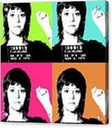 Jane Fonda Mug Shot X4 Acrylic Print