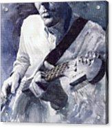 Jazz Guitarist Rene Trossman  Acrylic Print by Yuriy  Shevchuk