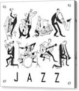 Jazz Acrylic Print by Sean Hagan