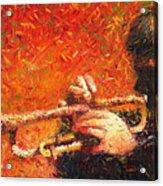 Jazz Trumpeter Acrylic Print