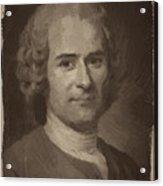 Jean Jacques Rousseau Acrylic Print