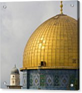 Jerusalem Dome Of The Rock  Acrylic Print