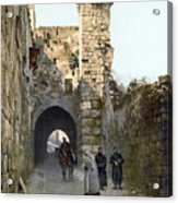 Jerusalem: Via Dolorosa Acrylic Print
