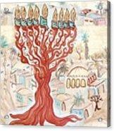 Jerusalem -watercolor On Parchment Acrylic Print